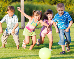 teaching your children to be active
